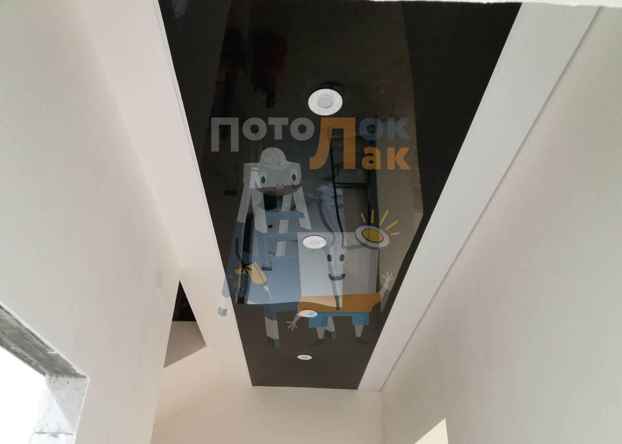Натяжные потолки в коридор в Абакане фото 8