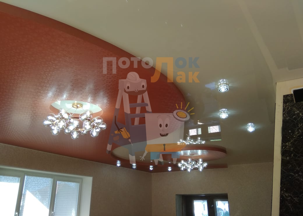 Натяжные потолки в квартиру-студию в Абакане фото 8