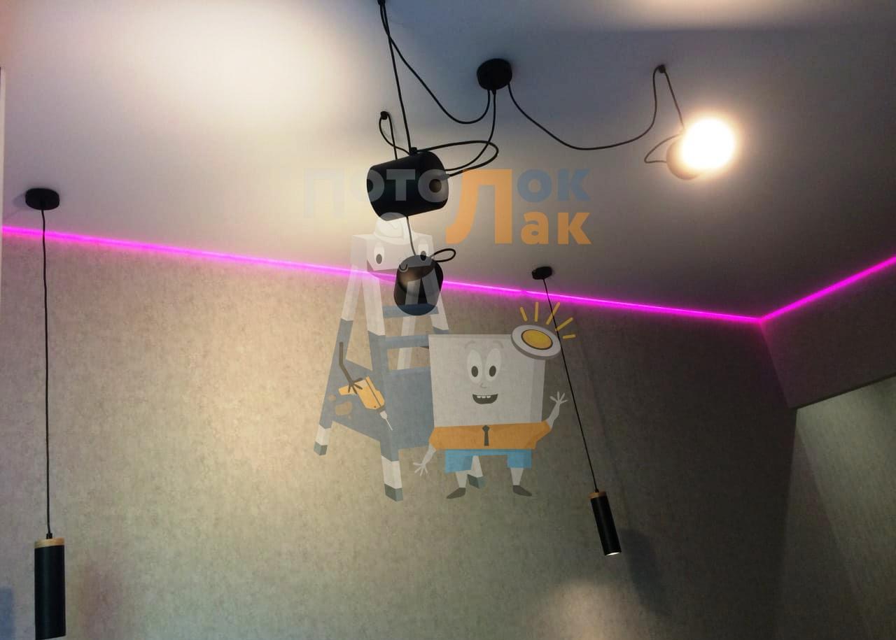 Натяжные потолки с подсветкой в Абакане фото 8