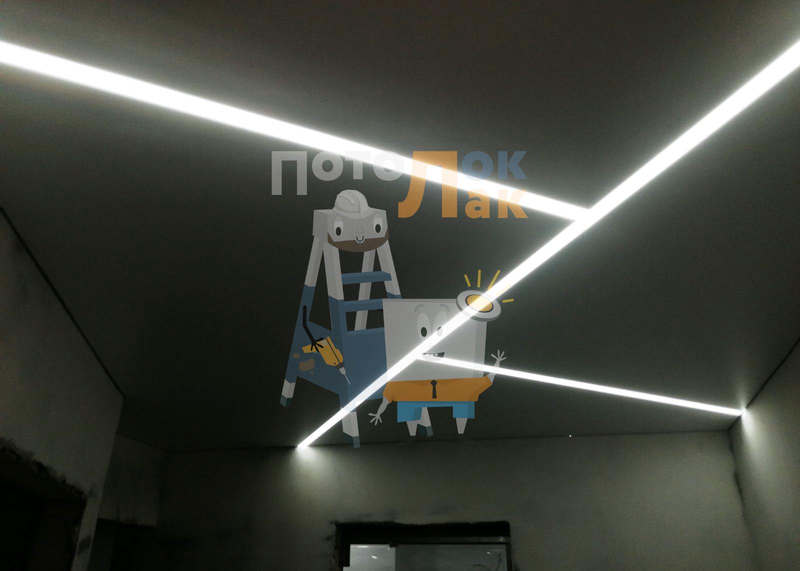 Натяжные потолки 14 кв. м в Абакане фото 8