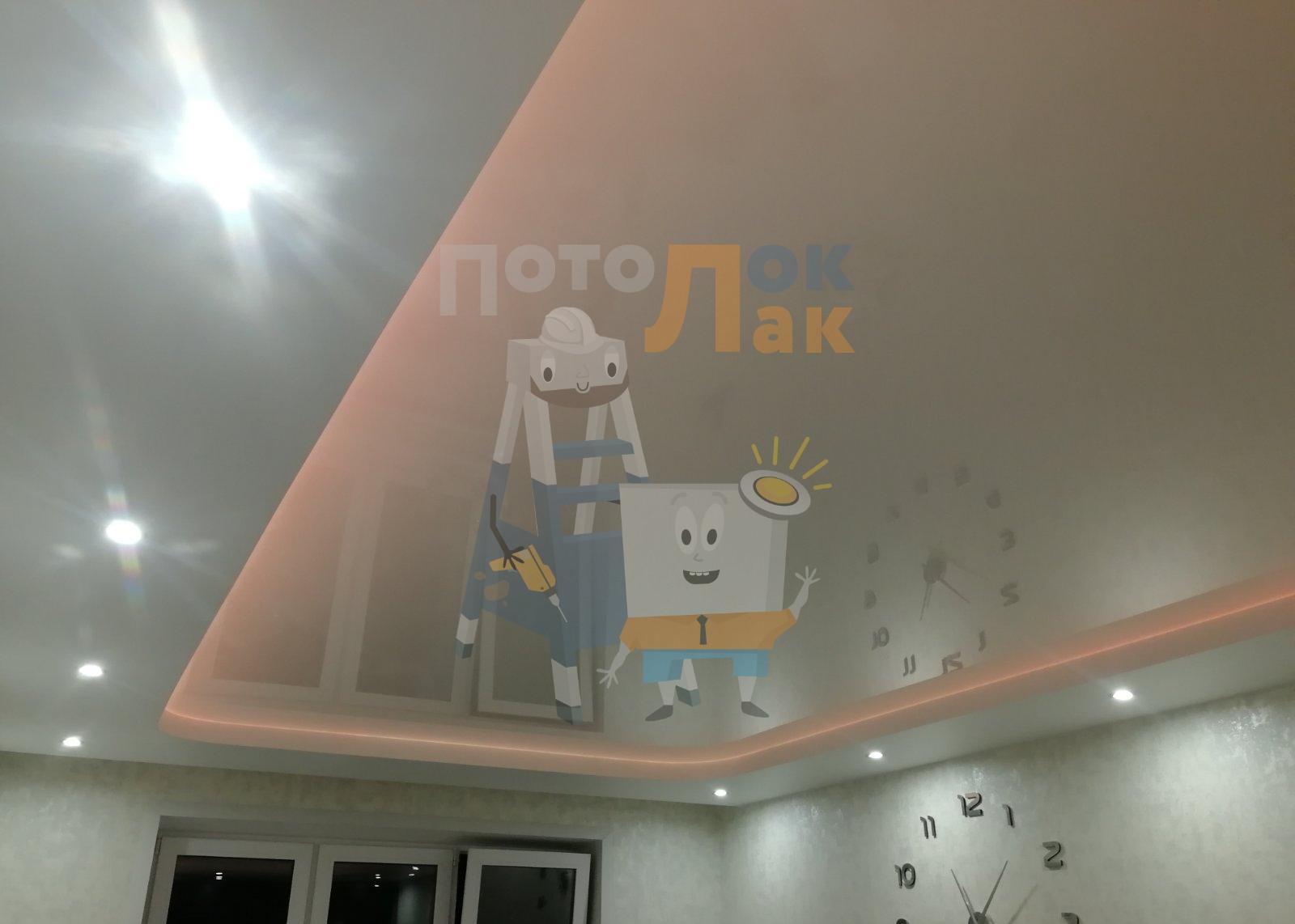 Натяжные потолки в гостиную в Абакане фото 8
