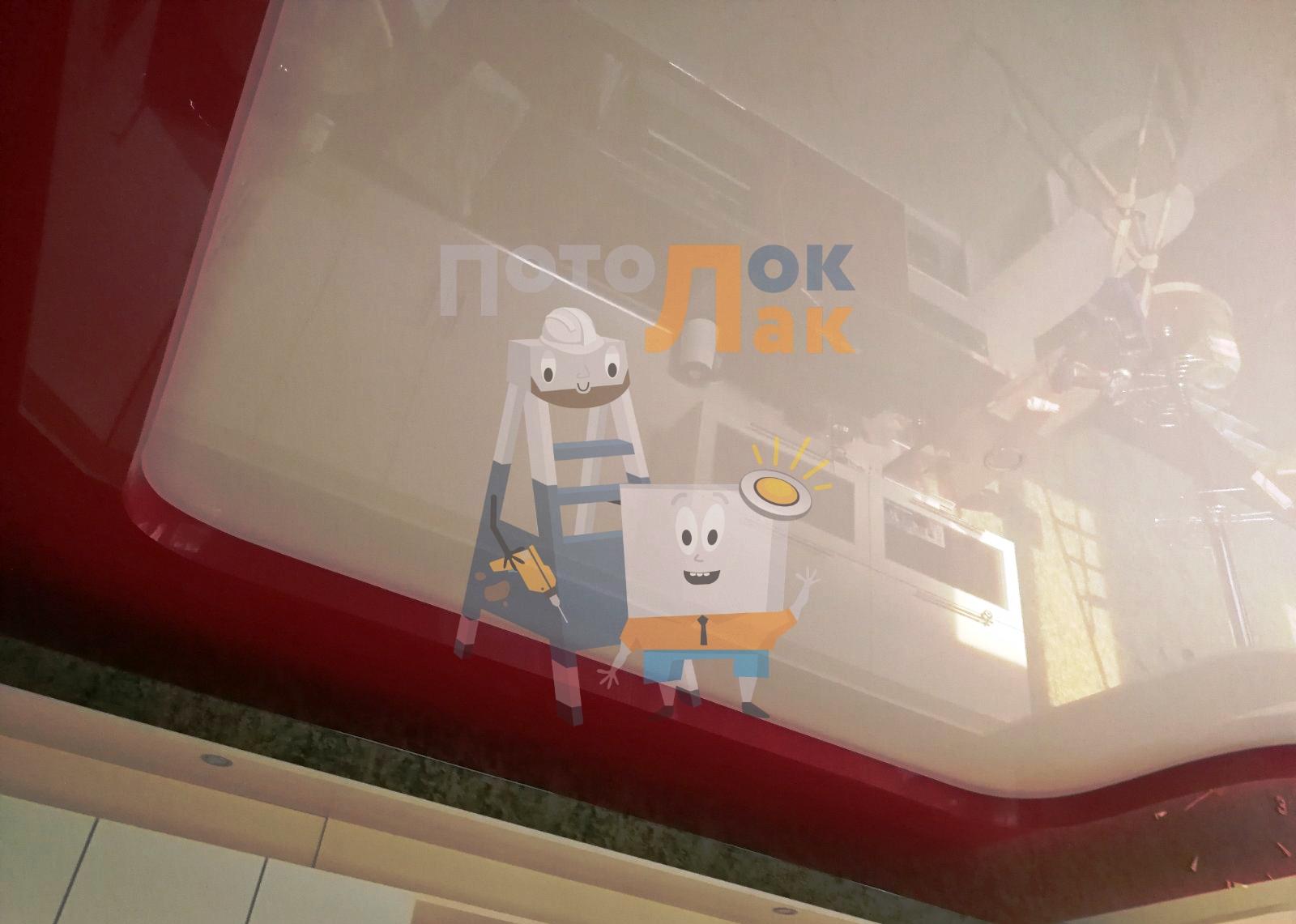 Натяжные потолки для кухонь в Абакане фото 8