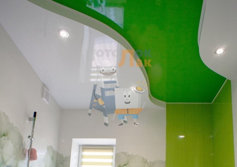 Натяжные потолки зеленые в Абакане фото 8